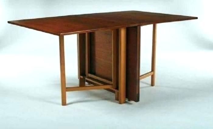 Wood Folding Dining Table Tables Attractive Wooden Dinin Pertaining To Wood Folding Dining Tables (View 21 of 25)