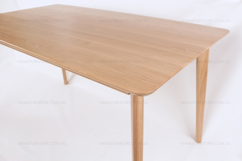Wood Furniture Singapore | Verona Dining Table (Solid Oak Wood Intended For Verona Dining Tables (View 7 of 25)