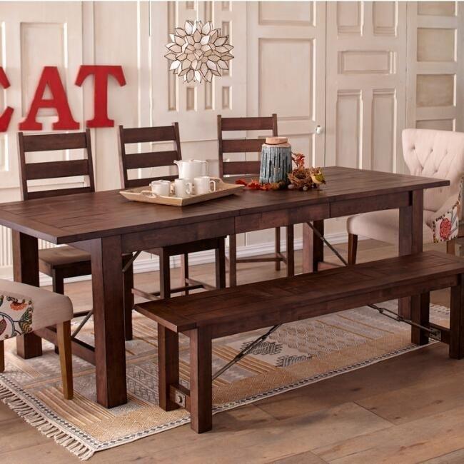 Wood Garner Extension Dining Table – V4 | Benson House | Pinterest Regarding Benson Rectangle Dining Tables (Image 24 of 25)