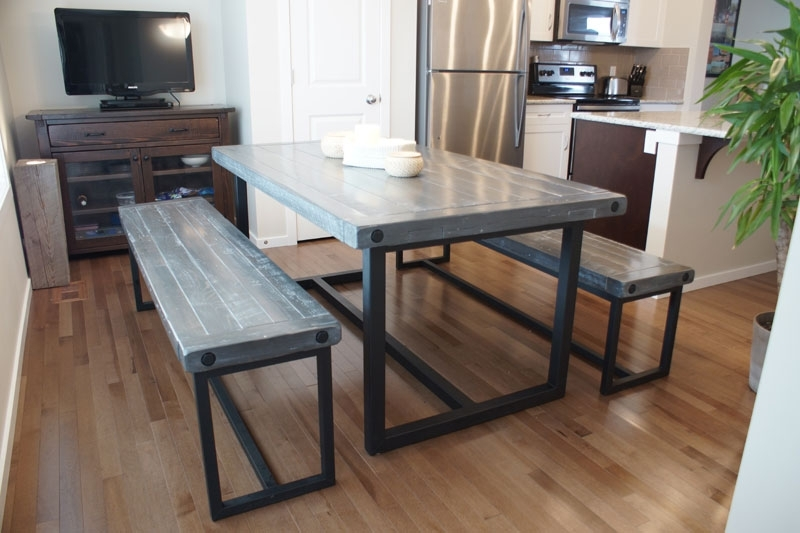 Wood & Iron Dining Table In Calgary, Alberta / Liken Woodworks Intended For Iron And Wood Dining Tables (Image 23 of 25)