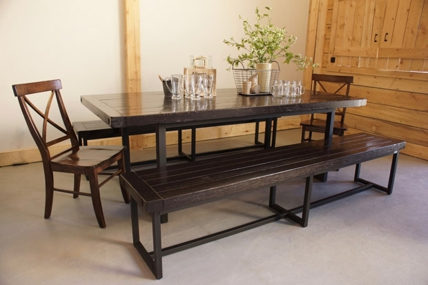 Wood & Iron Dining Table In Calgary, Alberta / Liken Woodworks Intended For Iron And Wood Dining Tables (View 5 of 25)