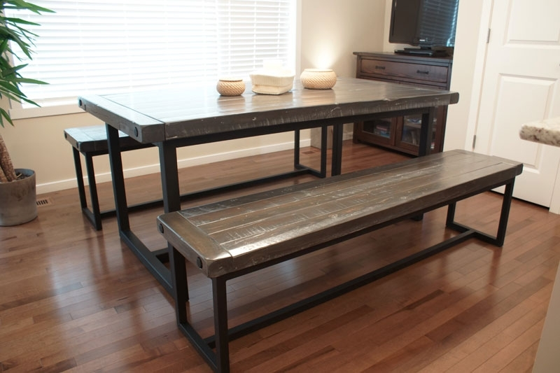 Wood & Iron Dining Table In Calgary, Alberta / Liken Woodworks Within Mango Wood/iron Dining Tables (View 23 of 25)