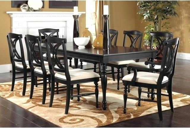 Wood Round Dining Table For 8 – Modern Computer Desk Cosmeticdentist Inside 8 Chairs Dining Sets (Image 25 of 25)
