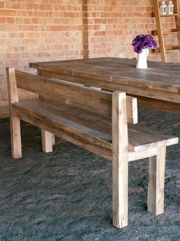 Featured Image of Bench With Back For Dining Tables