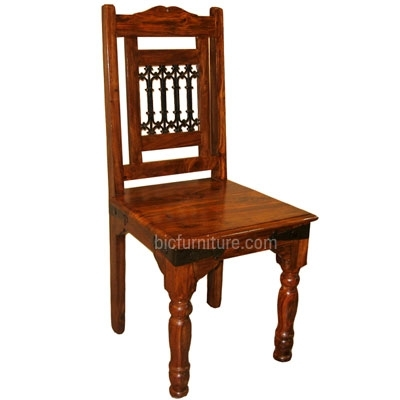 Wooden Chair With Ethnic Back | Hardwood Indian Furniturebic India In Indian Dining Chairs (Image 22 of 25)
