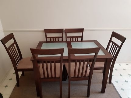 Wooden Dining Setting With Extendable Table 9 Pieces | Dining Tables Regarding Norwood 7 Piece Rectangle Extension Dining Sets (Image 24 of 25)
