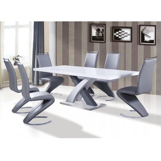 Wooden Dining Table And 8 Chairs Uk | Furniture In Fashion Inside Gloss Dining Sets (Image 25 of 25)