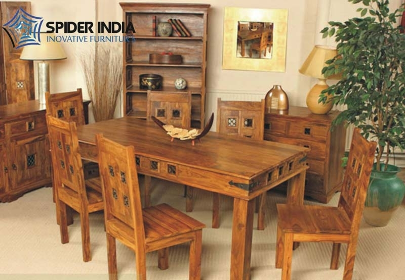 Wooden Dining Table Set,sheesham Wood Dining Table Set Exporter Throughout Sheesham Dining Tables And Chairs (View 7 of 25)