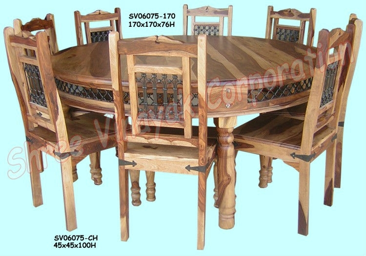 Wooden Dining Table Set,sheesham Wood Furniture – Buy Sheesham Wood Throughout Sheesham Wood Dining Chairs (Image 25 of 25)