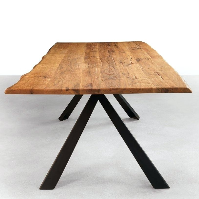 Wooden Dining Table With Metal Legs Kitchen Table Legs Metal In Dining Tables With Metal Legs Wood Top (Image 25 of 25)