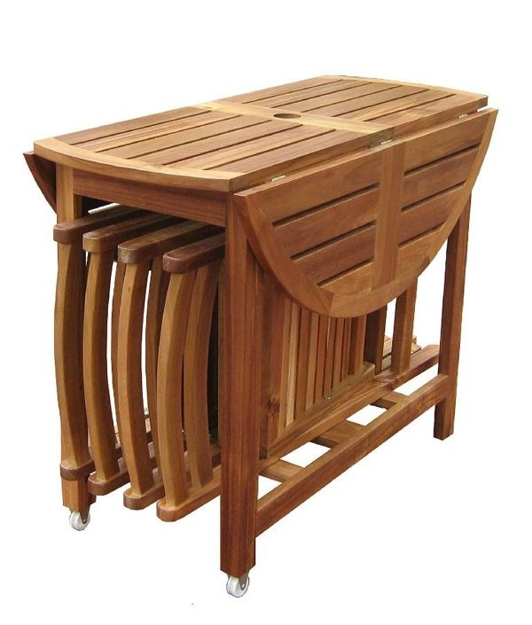 Wooden Folding Kitchen Table Modern Minimalist Dining Furniture Throughout Wood Folding Dining Tables (Image 25 of 25)