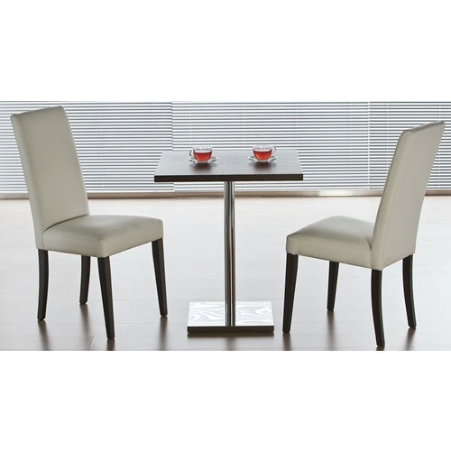 Wooden, Glass Two Seater Stainless Steel Dining Table, Shape With Regard To Two Seater Dining Tables (Image 25 of 25)