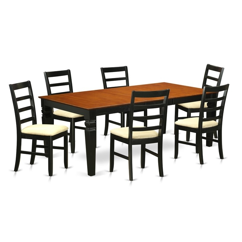Wooden Importers Logan 7 Piece Dining Set   Wayfair With Regard To Chandler 7 Piece Extension Dining Sets With Fabric Side Chairs (Image 25 of 25)