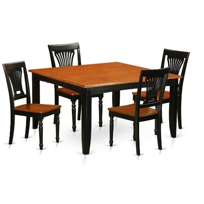 Wooden Importers Parfait 5 Piece Dining Set In 2018 | Products For Laurent 5 Piece Round Dining Sets With Wood Chairs (Image 25 of 25)