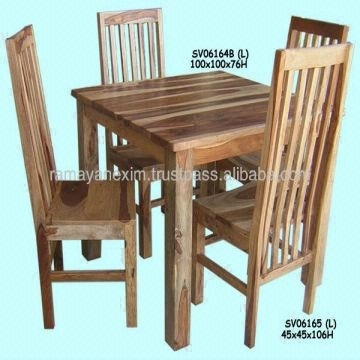 Wooden Square Dining Table Set,dining Room Furniture,chair,hotel Inside Indian Wood Dining Tables (View 10 of 25)