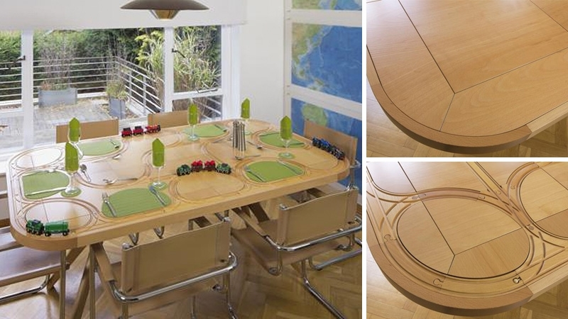 Wooden Train Dining Table Redefines Playing With Your Food | Gizmodo Within Railway Dining Tables (View 6 of 25)