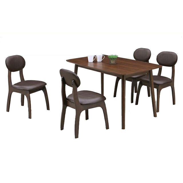 Woodylife: Dining Table Set Dining 5 Piece Set Brown Wooden Asian Throughout Asian Dining Tables (View 19 of 25)