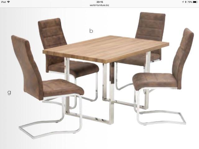 World Furniture Naples French Rustic Oak Or Grey Oak Dining Sets For Oak Dining Sets (Image 25 of 25)