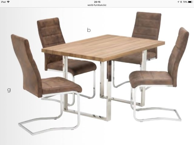 World Furniture Naples French Rustic Oak Or Grey Oak Dining Sets In Oak Dining Tables (Image 25 of 25)