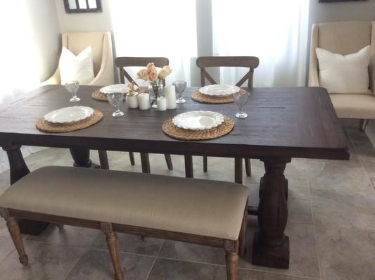 World Market Greyson Dining Table, Target Chairs, Overstock Bench Within Market Dining Tables (Image 25 of 25)