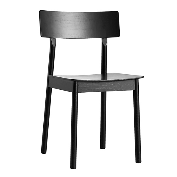 Woud Pause Dining Chair, Buy Online Today | Utility Design Uk Within Black Dining Chairs (Image 25 of 25)