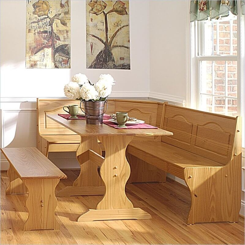 Wow! 30 Space Saving Corner Breakfast Nook Furniture Sets (2018) With Regard To Small Dining Tables And Bench Sets (View 16 of 25)