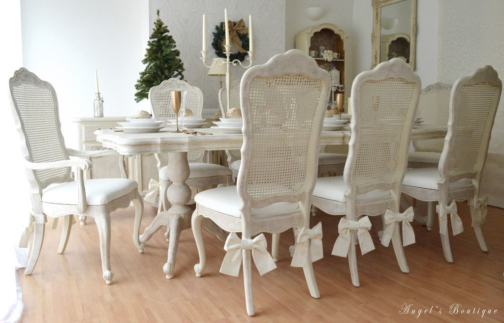 Wow !!! Sale !!! *** Unique & Beautiful *** French Antique Shabby With Regard To French Chic Dining Tables (Image 25 of 25)