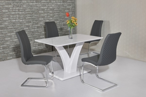 Featured Image of White Gloss Dining Tables 120Cm