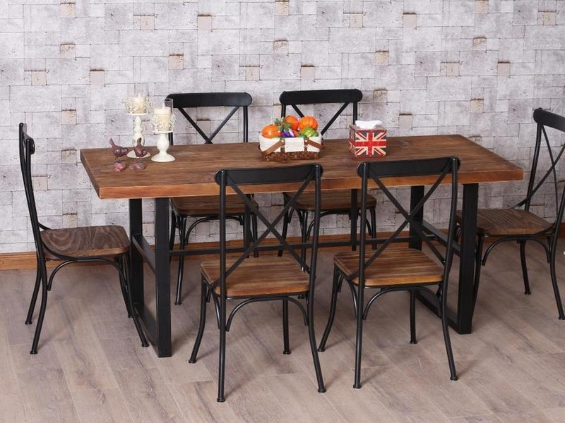Wrought Iron Dining Table – Retro Yet Modern – Blogbeen With Regard To Iron And Wood Dining Tables (Image 24 of 25)