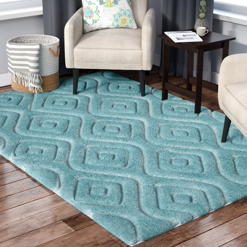 Wrought Studio Helms Blue Area Rug | Wayfair Intended For Helms 7 Piece Rectangle Dining Sets With Side Chairs (View 18 of 25)