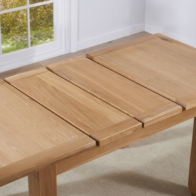 Yorkshire Solid Oak Extending Dining Table With 6 Henry Charcoal Chairs with regard to Extending Solid Oak Dining Tables