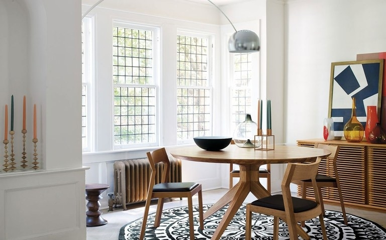 You Need An Arc Floor Lamp For Your Dining Table | Architectural Digest Inside Dining Tables Lights (Image 25 of 25)