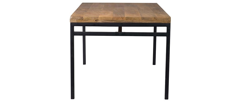 Ypster 160X90Cm Industrial Dining Table In Mango Wood And Metal Inside Mango Wood/iron Dining Tables (Image 24 of 25)