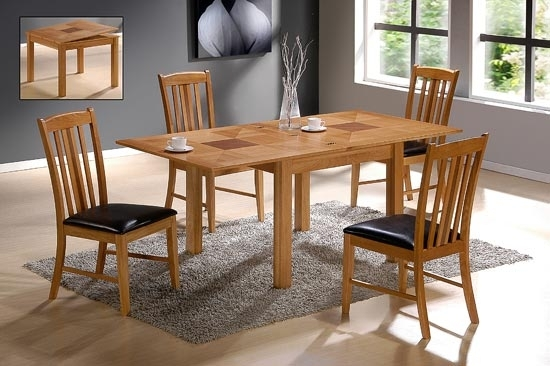 Yukon Solid Oak Extending Dining Table With 4 Chairs 9236 throughout Extendable Dining Tables And 4 Chairs