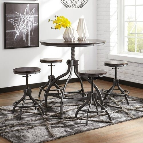 Yvette 5 Piece Counter Height Dining Set | Pablo's Crib | Pinterest Within Jameson Grey 5 Piece Counter Sets (Image 25 of 25)