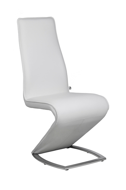 Z Ii – New Edition Designer White Leather Dining Chair Chairs Within White Leather Dining Chairs (Image 24 of 25)
