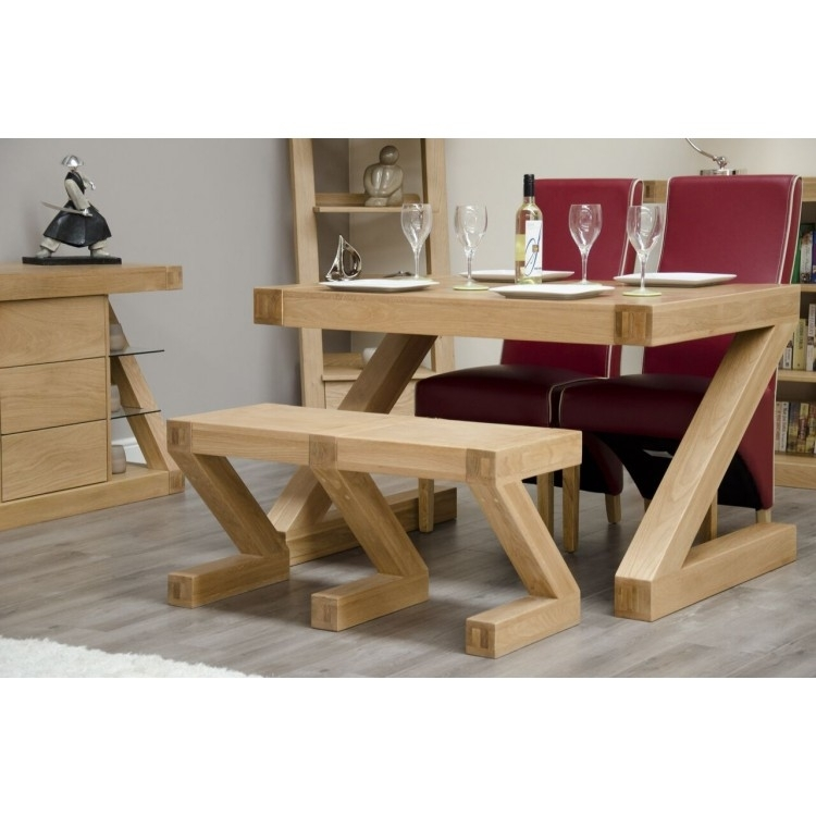 Z Oak Furniture Dining Table Small Bench At Oak Furniture House for Small Oak Dining Tables