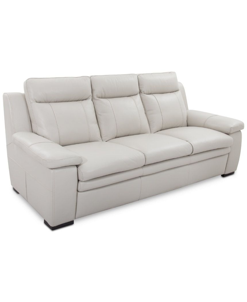 Zane Leather Sofa – Furniture – Macy's | Eg Living Room | Pinterest With Regard To Travis Dk Grey Leather 6 Piece Power Reclining Sectionals With Power Headrest & Usb (View 10 of 25)