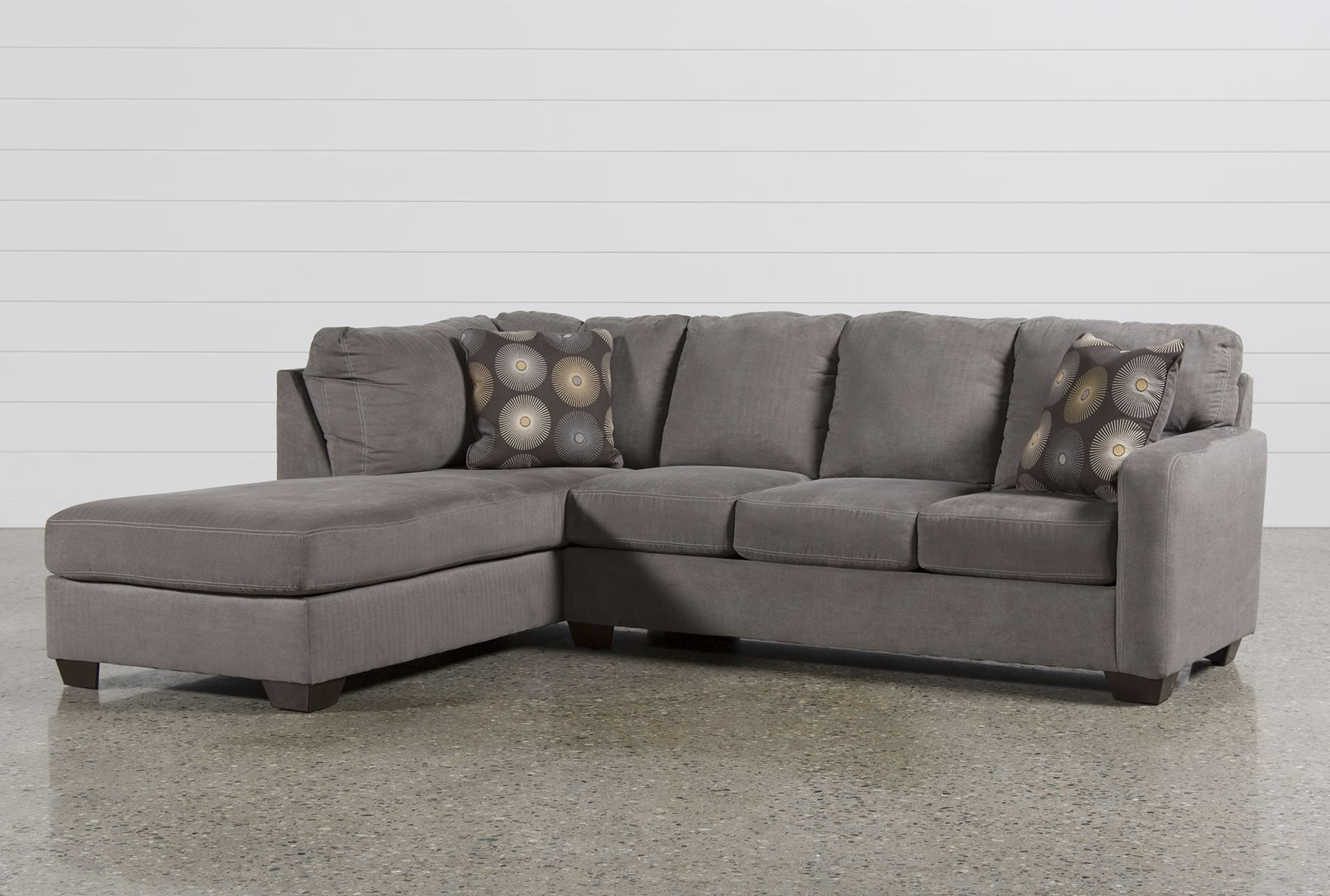 Zella Charcoal 2 Piece Sectional W/laf Chaise – Signature With Aspen 2 Piece Sleeper Sectionals With Laf Chaise (Image 25 of 25)