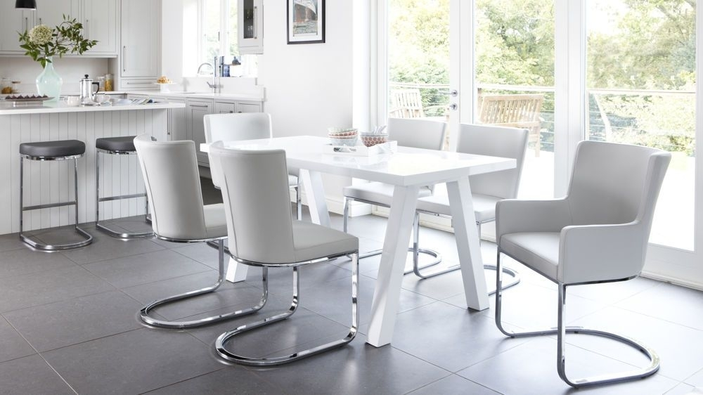 Zen 6 Seater White Gloss Dining Table | Kitchen/diner Ideas inside White Gloss Dining Tables