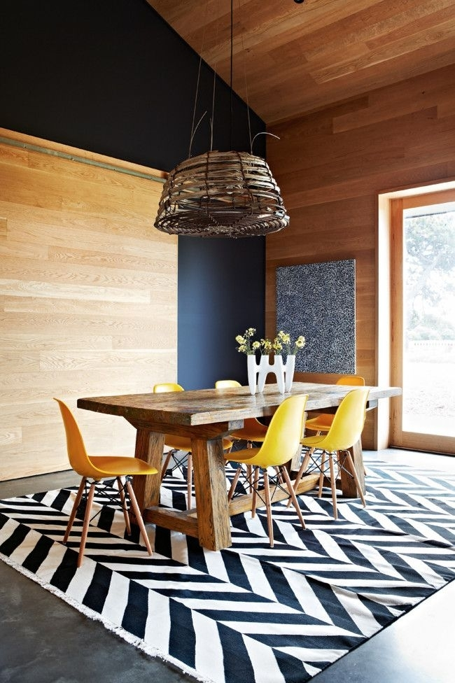 Zig Zag | Home | Pinterest | Herringbone Rug, Chevron Rugs And Regarding Weaver Dark 7 Piece Dining Sets With Alexa White Side Chairs (View 15 of 25)