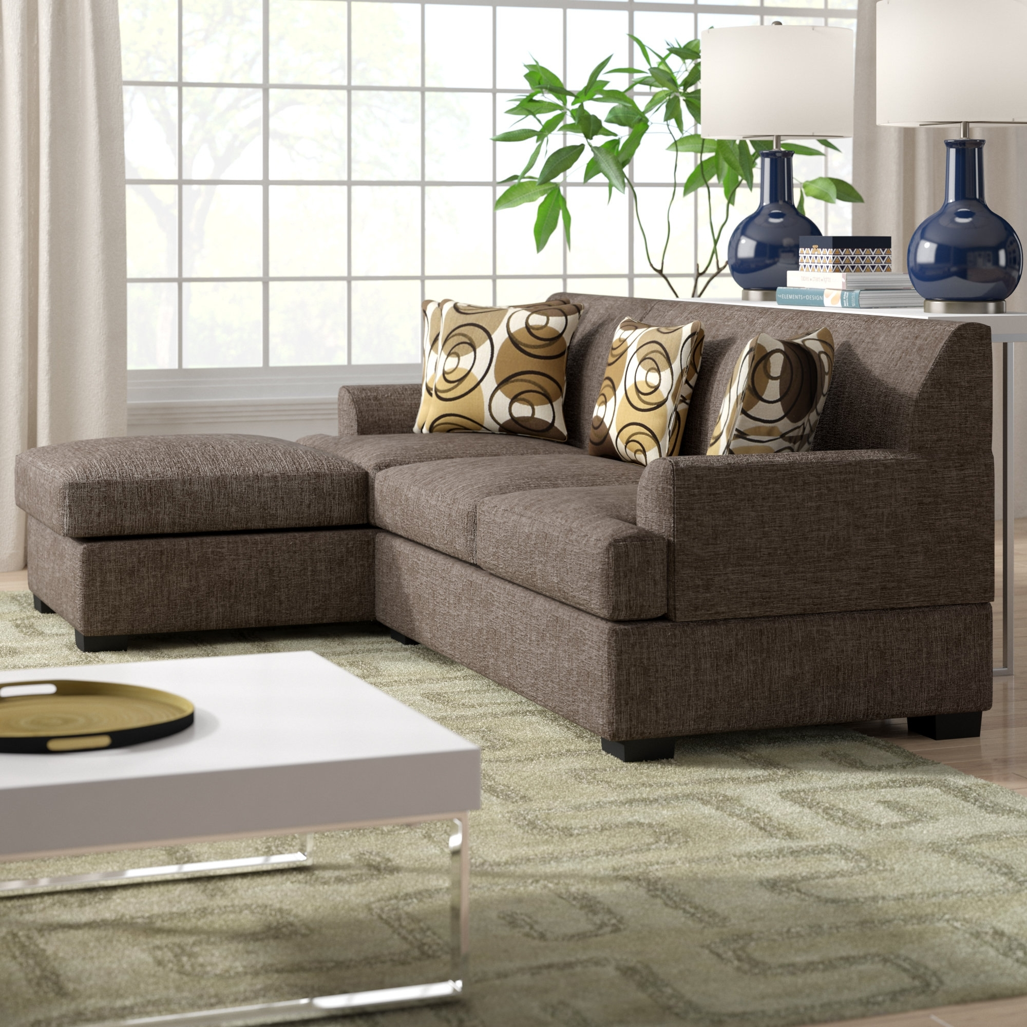 Zipcode Design Jent Reversible Sectional & Reviews | Wayfair Throughout Marissa Ii 3 Piece Sectionals (Image 25 of 25)