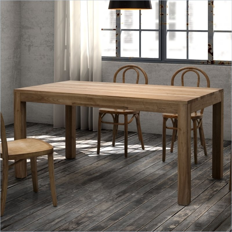 Zuo Era Fillmore Dining Table In Distressed Natural Finish | Matthew Pertaining To Natural Wood & Recycled Elm 87 Inch Dining Tables (Image 25 of 25)