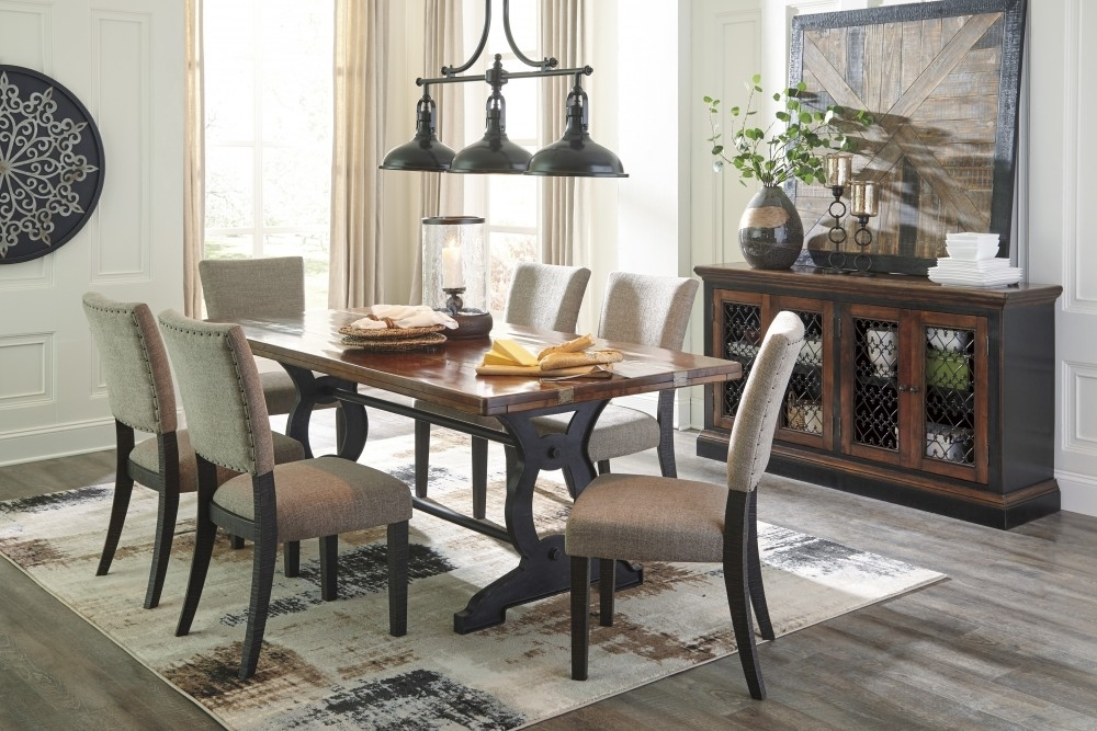 Zurani Rect Drm Table & 6 Uph Side Chairs | D709/25/01(6) | Dining intended for Market 6 Piece Dining Sets With Side Chairs