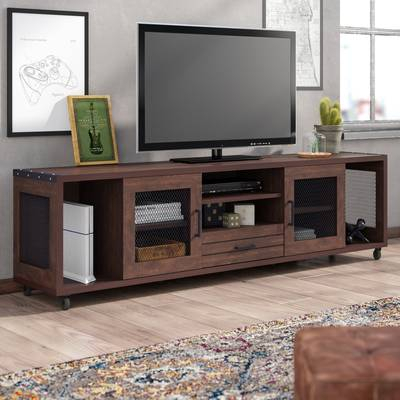 """17 Stories Johntai Tv Stand For Tvs Up To 72"""" & Reviews (Image 2 of 25)"""
