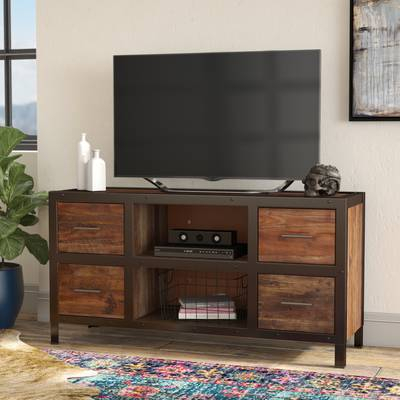"17 Stories Johntai Tv Stand For Tvs Up To 72"" & Reviews (View 17 of 25)"