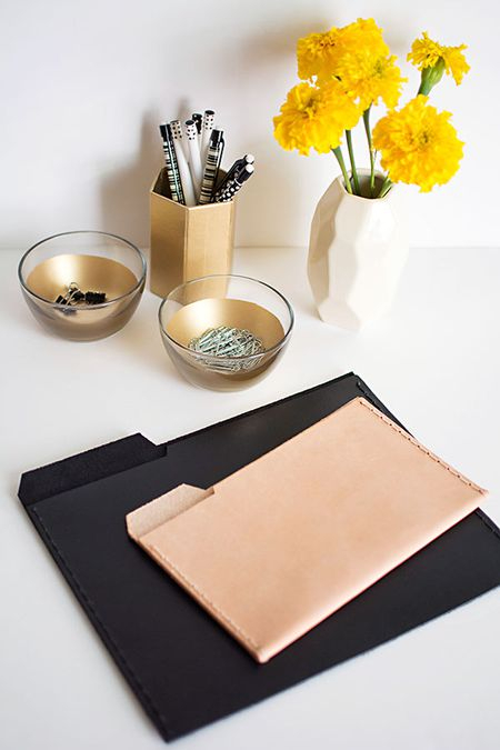 18 Gorgeous Leather Craft Ideas With Regard To Widely Used Mix Leather Imprint Metal Frame Console Tables (Image 1 of 25)