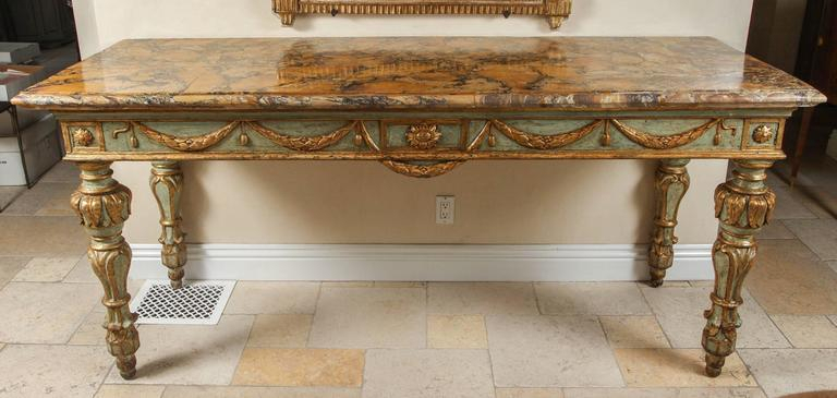 18Th Century Roman Console Table For Sale At 1Stdibs For Favorite Roman Metal Top Console Tables (Image 1 of 25)