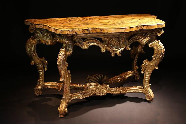 18Th Century Roman Giltwood Console Table For Sale At 1Stdibs In Preferred Roman Metal Top Console Tables (View 9 of 25)