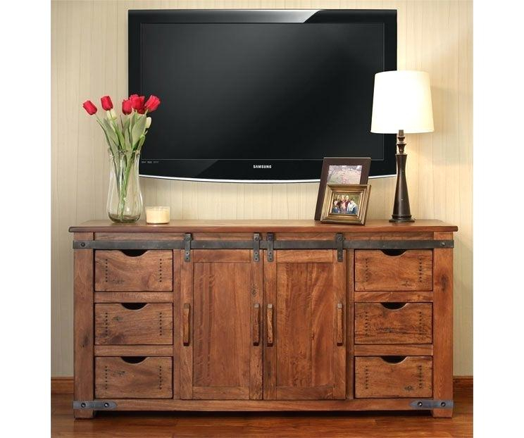 2017 Bale Rustic Grey 82 Inch Tv Stands With Blackwelder 82 Tv Stand Stands The Home Depot P – Probanki (View 13 of 25)